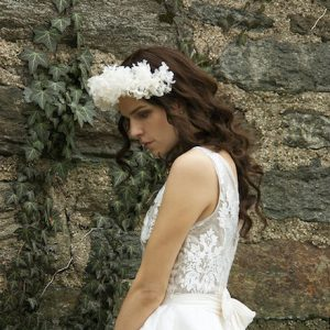 Bridal Headpiece with White Lilacs