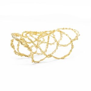 Gold and Silver Cuff Bracelet in Wire