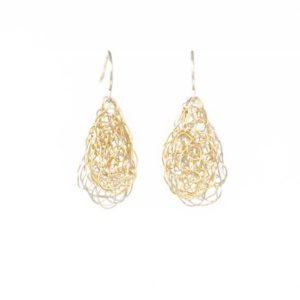 Gold and Silver Teardrop Earrings
