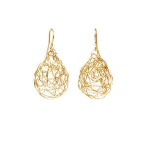 Gold Teardrop Drop Earrings