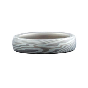 Mokume Gane Wedding Ring in Silver
