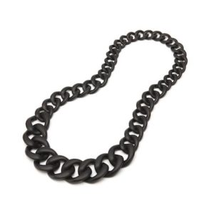 Black Chain Necklace in Resin