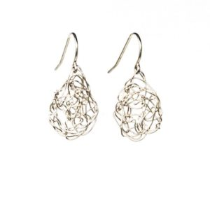 Silver Teardrop Drop Earrings