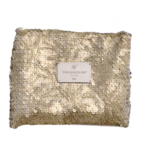 Gold Sequin Haute Couture Swiss Handbag