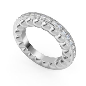 Diamond Wedding Eternity Ring in White Gold