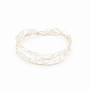 Silver Woven Wire Bangle